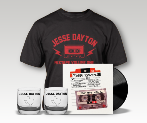 Pre-order: Jesse Dayton – Mixtape Volume 1 – LP, T-Shirt, & Whiskey Tumbler Bundle