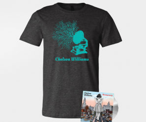 Chelsea Williams – Boomerang – CD / Grey T-Shirt Bundle